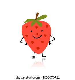 Strawberry, cute character for your design