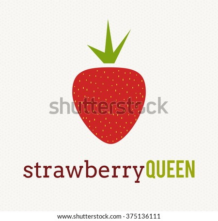 strawberry fruit logo icon template design のベクター画像素材