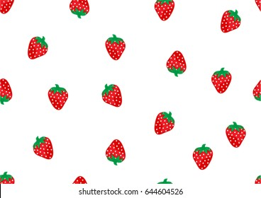 Strawberry graphic for fabric print