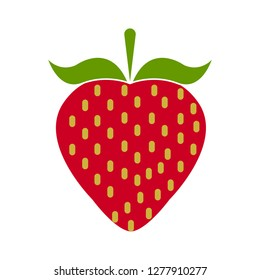 strawberry icon - strawberry  isolated, organic strawberry illustration- Vector fruit