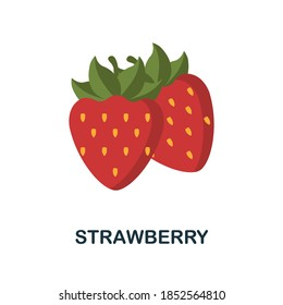 Strawberry icon. Simple element from fruits collection. Creative Strawberry icon for web design, templates, infographics and more