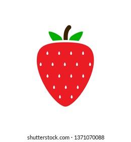 Strawberry icon,vector illustration. Flat design style. vector strawberry icon illustration isolated on White background, strawberry icon Eps10. strawberry icons graphic design vector symbols.