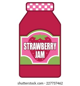 Strawberry Jam Jelly Jar