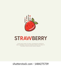 Strawberry Logo Icon Design Vector