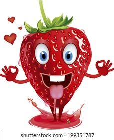 strawberry mascot fruit