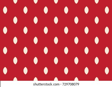 strawberry pattern vector design white on red