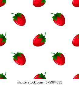 Strawberry seamless pattern. Good for wallpaper, wrapping papers and texture. Vector illustration.