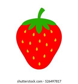 Strawberry vector icon. Strawberry vector illustration. Strawberry vector clip art.
