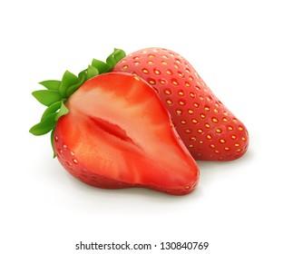 Strawberry, vector illustration