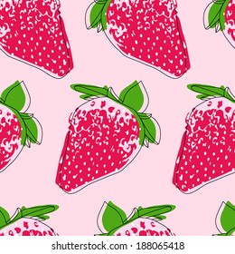 strawberry vector pattern