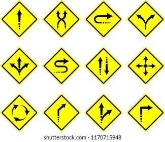 street arrow icons vector