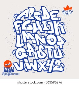 Street Based Graffiti Font / Alphabet