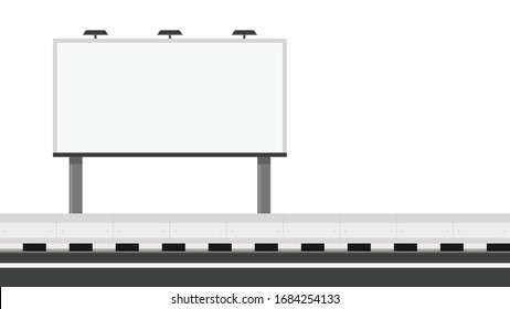 Street billboard. Billboard vector. free space for text. copy space. Road side.