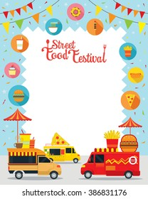 Street  and Fast Food, Truck, Festival, Poster, Frame, Burger, Pizza