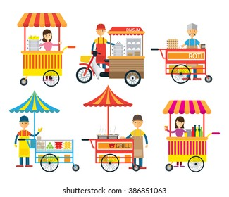 Street Food and Drink, Hawker, Seller, Merchant, Shopkeeper, Vendor