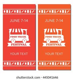 Street food festival design of vector poster eps10