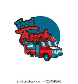 Street food truck vector illustration