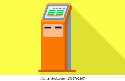 Street kiosk icon. Flat illustration of street kiosk vector icon for web design