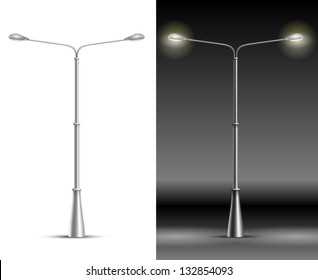 Street Lamp Lanterns isolated on white and black background