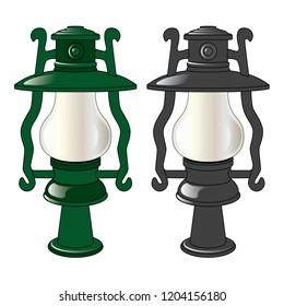 Street lamp, vector, art