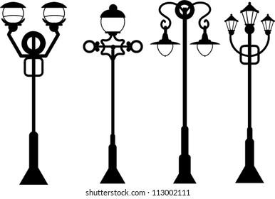 street lanterns set
