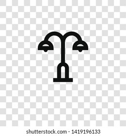 street light icon from miscellaneous collection for mobile concept and web apps icon. Transparent outline, thin line street light icon for website design and mobile, app development