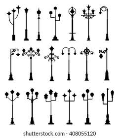 Street Light Set - Vector
