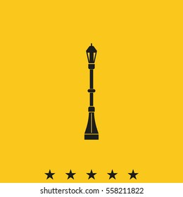 Street light silhouette. Street lamp icon.