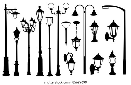 street light silhouettes