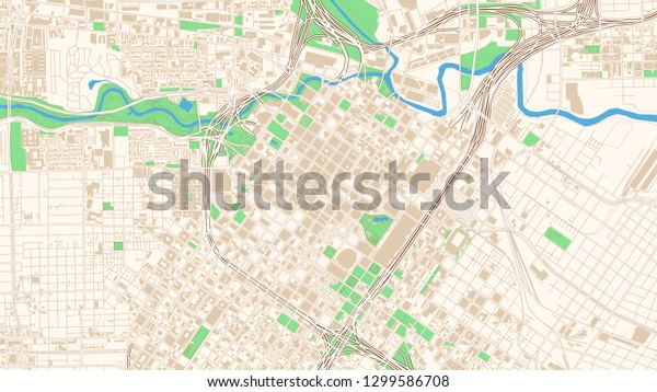 Street Map Houston Texas This Classic Stock Vector (Royalty ...