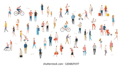 street people mega set. flat design style vector graphic illustration.
