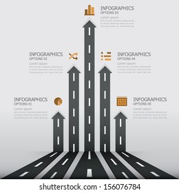 Street Road & Sign Infographics Design Template