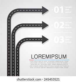 Street road and sign infographics design template