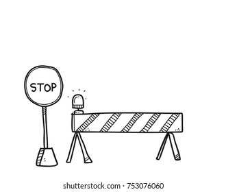 street sign doodle