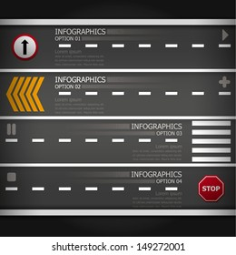 Street & Sign Infographics Design Template