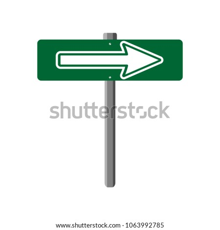 Street Sign Logo Template Signpost Arrows Stock Vector Royalty Free