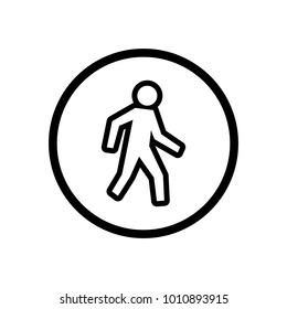 street sign people template logo