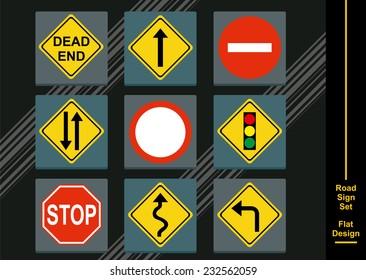 Street Signs Icon Set