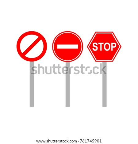 street signs template logo stock vector royalty free 761745901