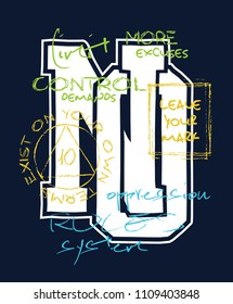 Street style letters illustration for t-shirt.