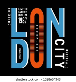 street style london typography design for t shirt - vector illustration