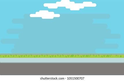 Street/hallway background vector illustration