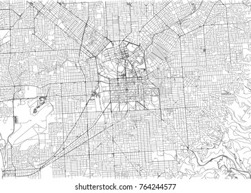 Streets of Adelaide, city map, Australia. Street map
