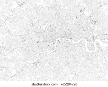 Streets of London, city map, England, streets