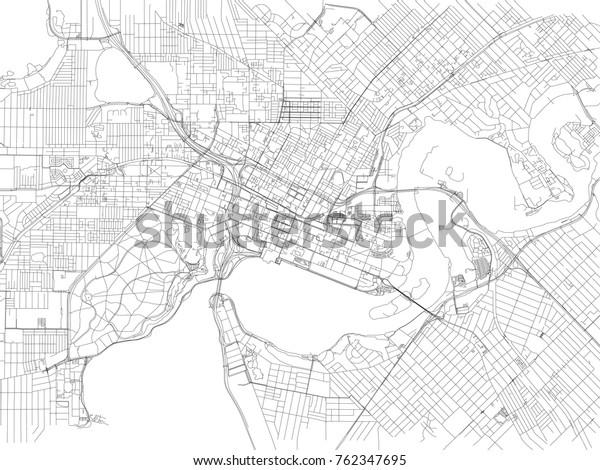 Street Map Australia.Streets Perth City Map Australia Street Stock Vector Royalty Free