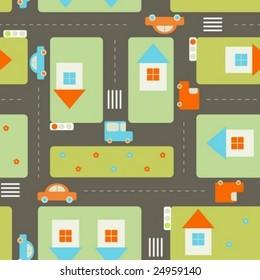 Streets seamless pattern