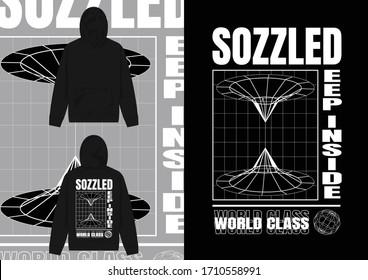 Streetwear Design Hoodie with Industrial Deep Hole Design