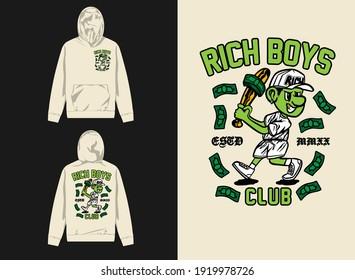 streetwear graphic design rich boy