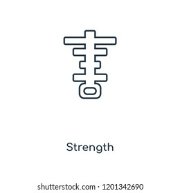 Strength concept line icon. Linear Strength concept outline symbol design. This simple element illustration can be used for web and mobile UI/UX.