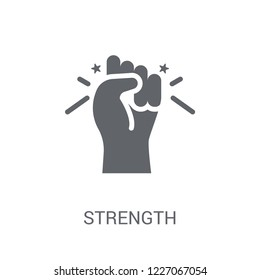 Strength icon. Trendy Strength logo concept on white background from Startup Strategy and Success collection. Suitable for use on web apps, mobile apps and print media.